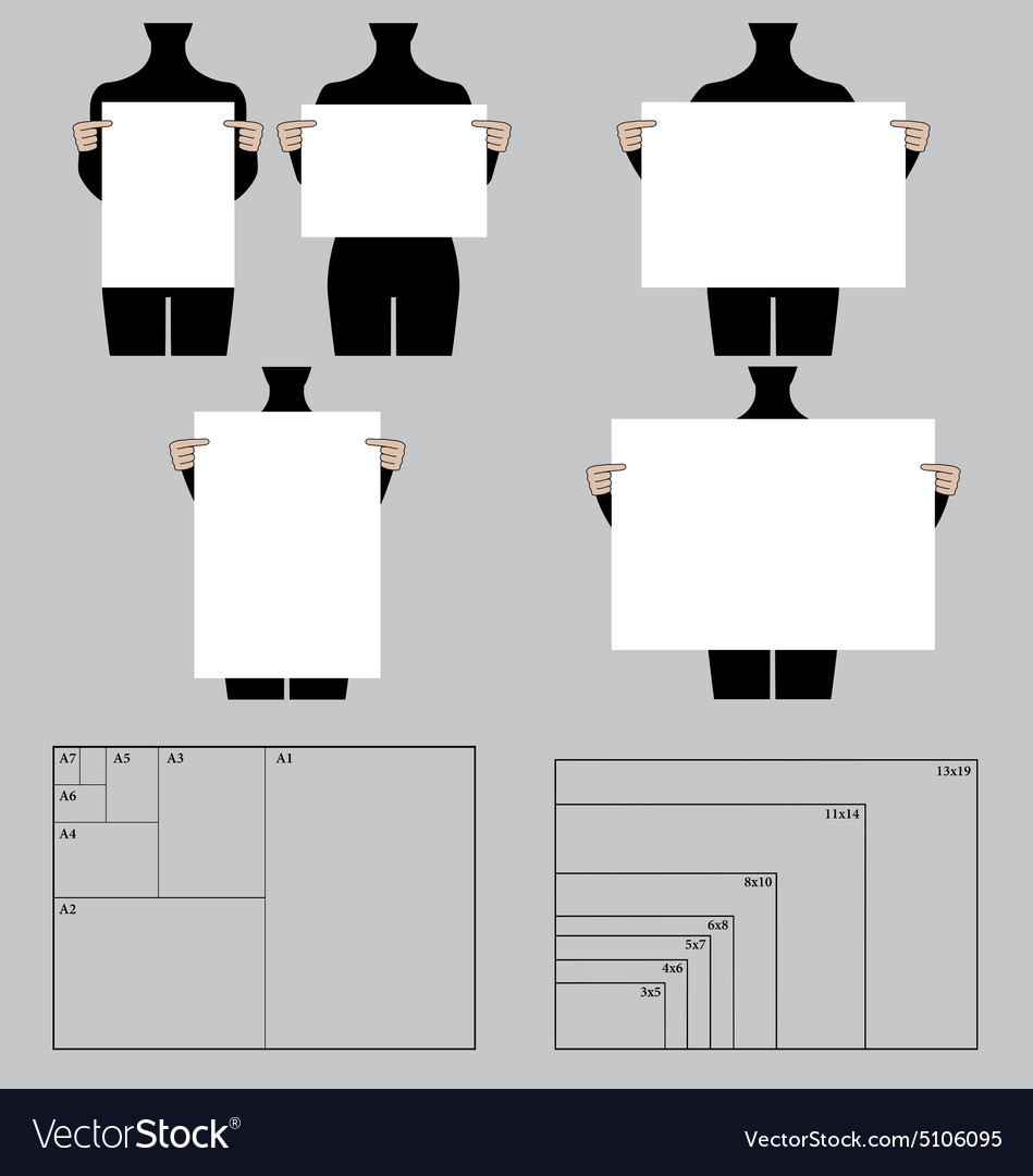 people holding blank poster templates set vector image, Powerpoint templates