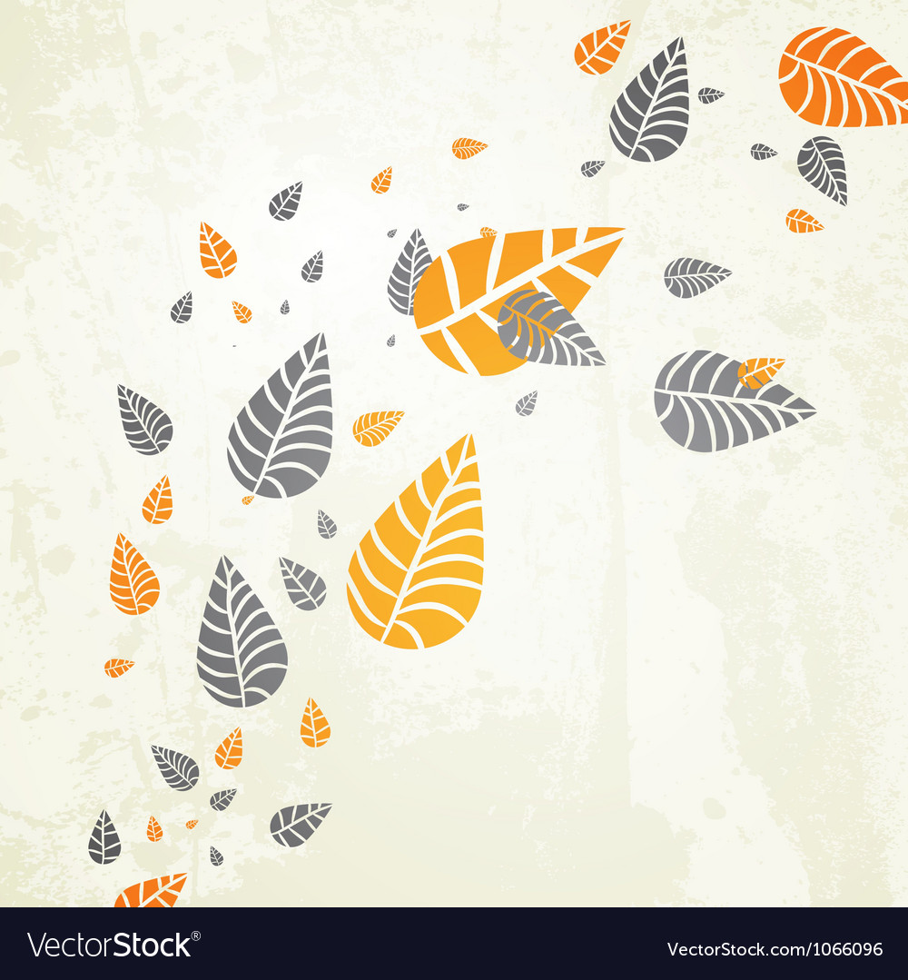 Floral Leaves Background vector image