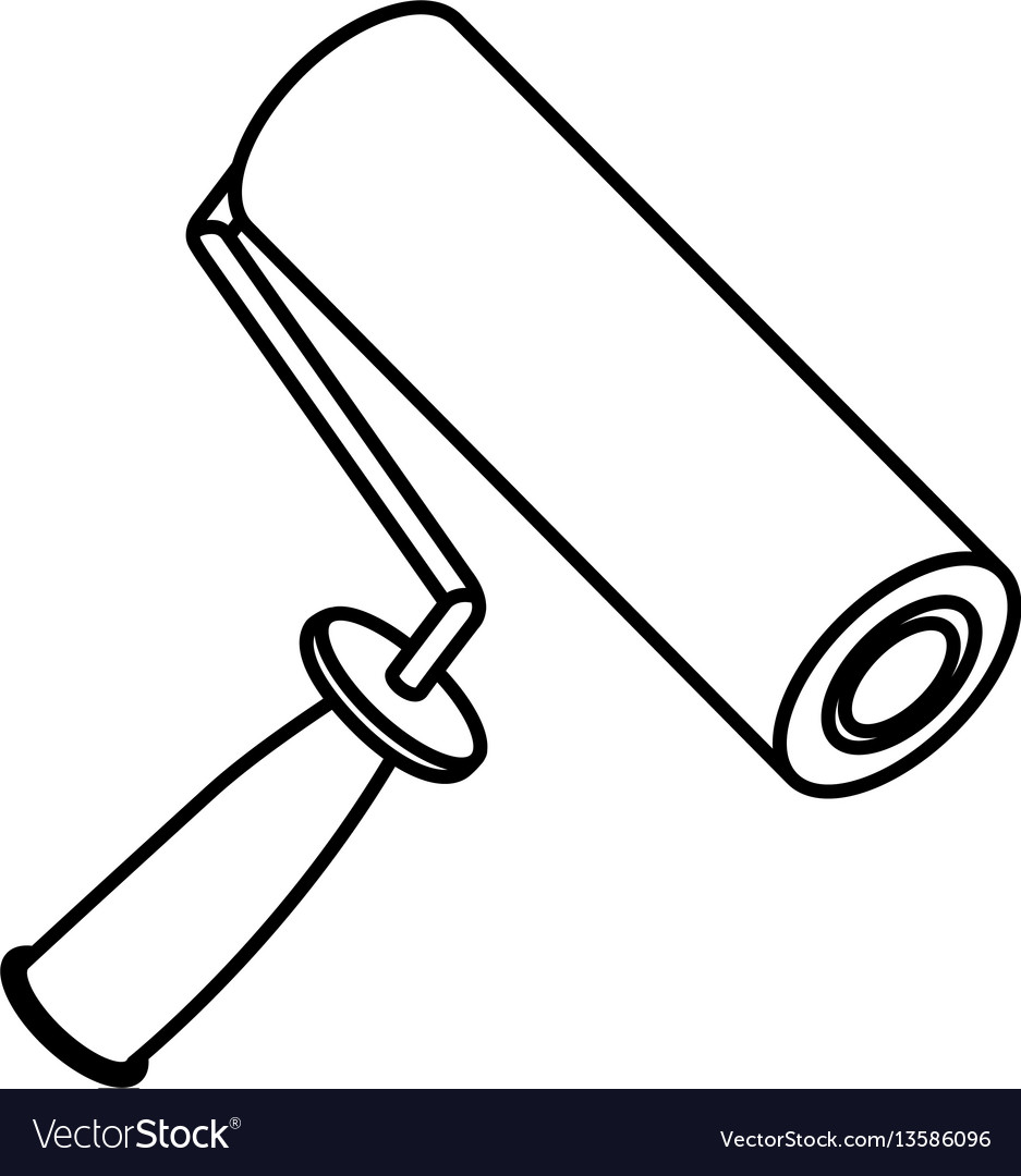 Figure paint roller icon vector image