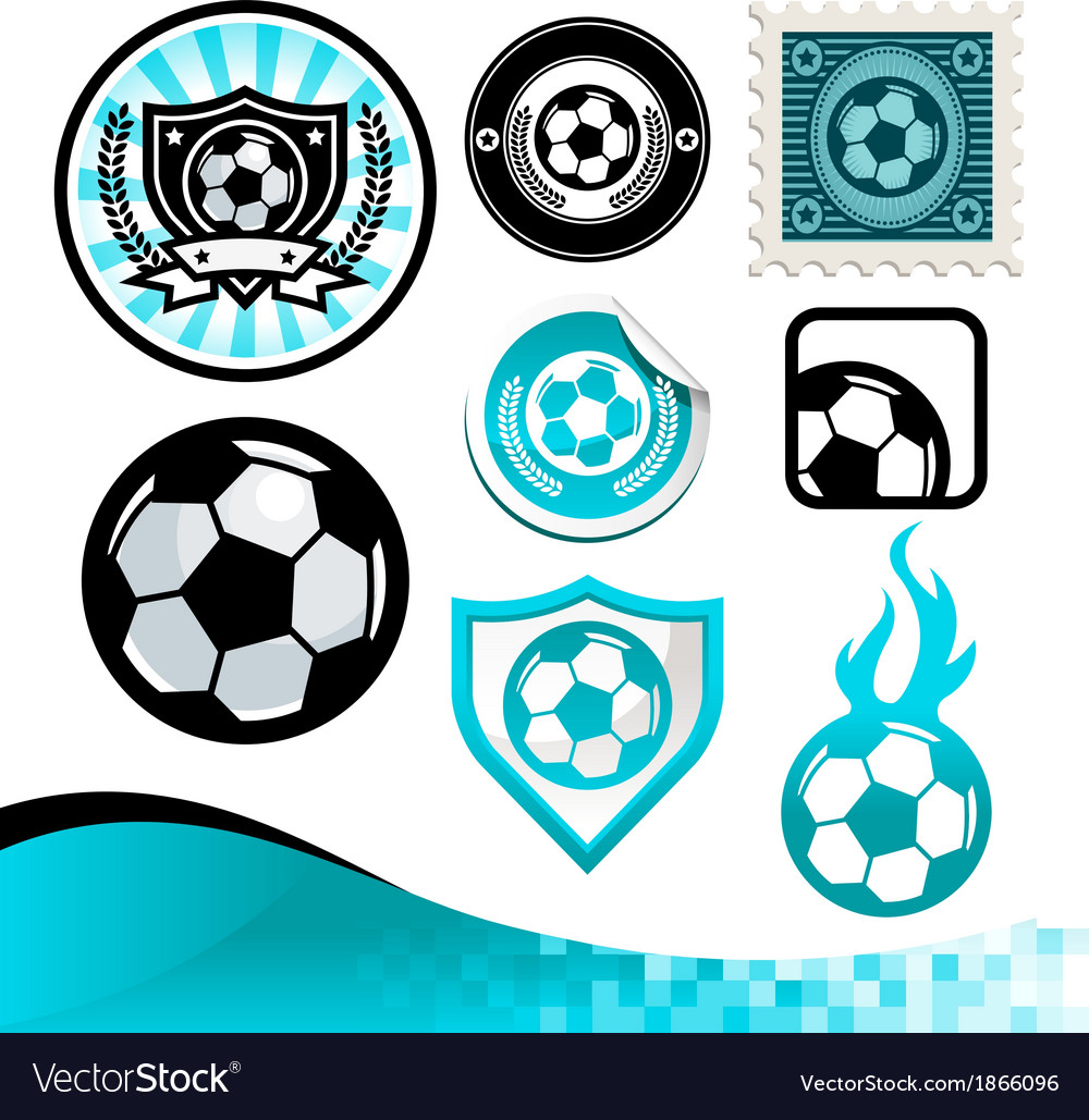Soccer Ball Design Kit vector image