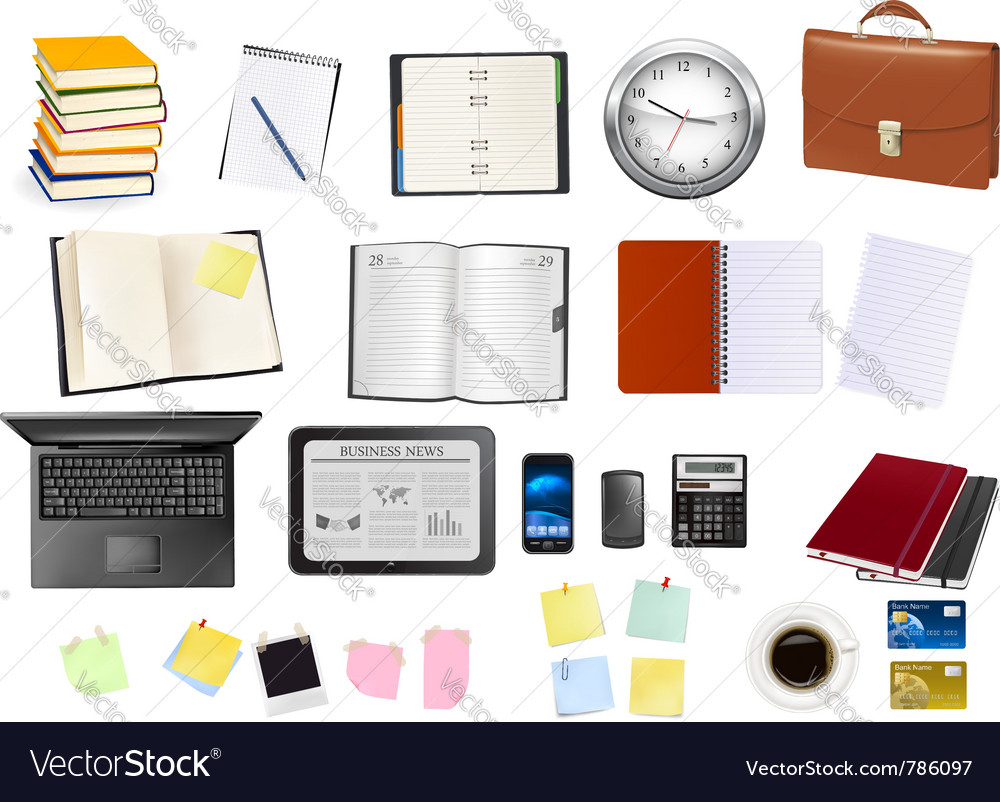 Business and office supplies Vector Image