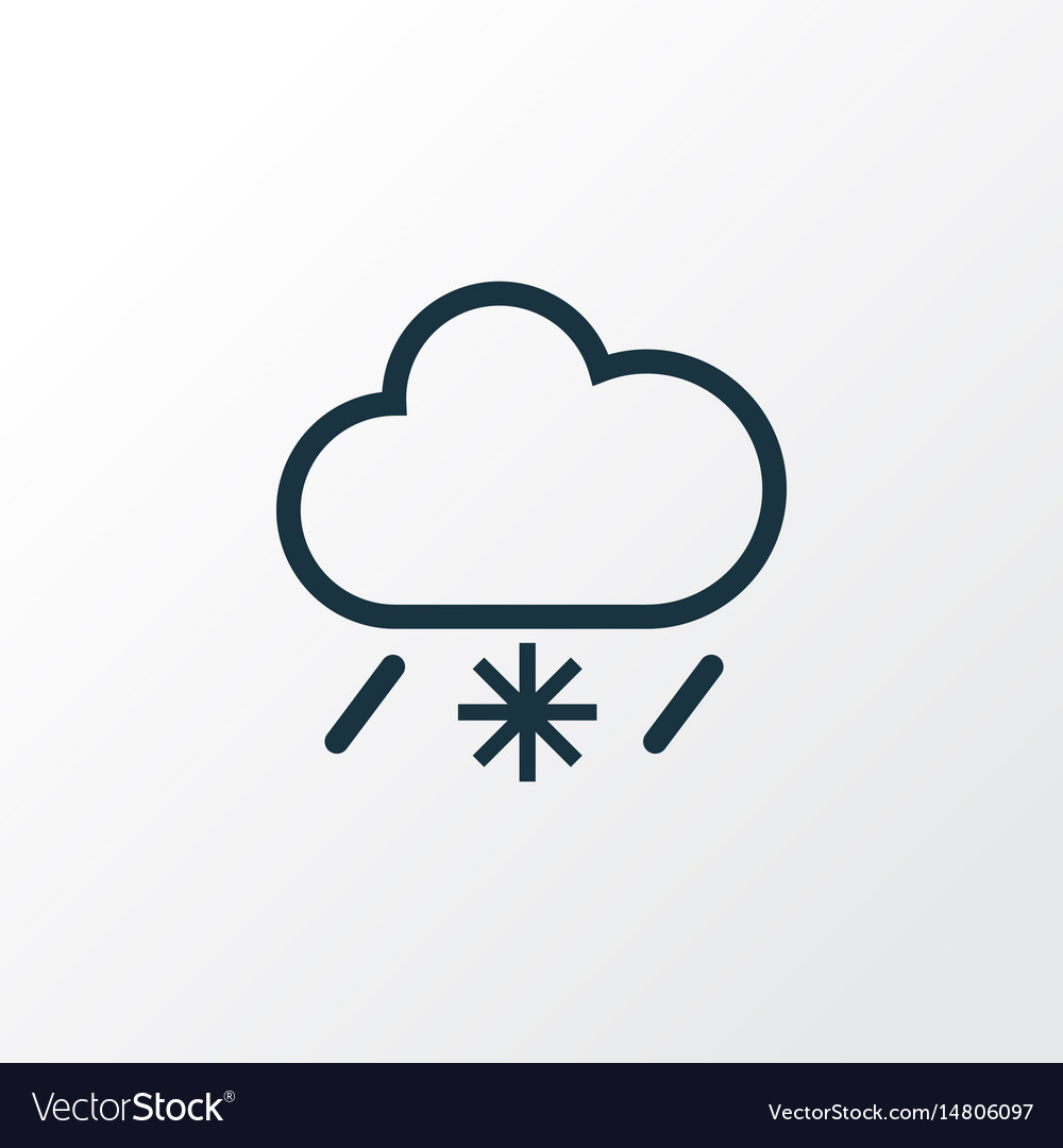 Cold weather outline symbol premium quality vector image