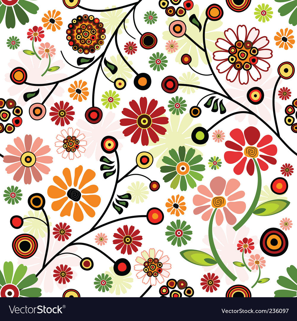 Floral Wallpaper Floral Wallpaper Pattern Royalty Free Vector Image