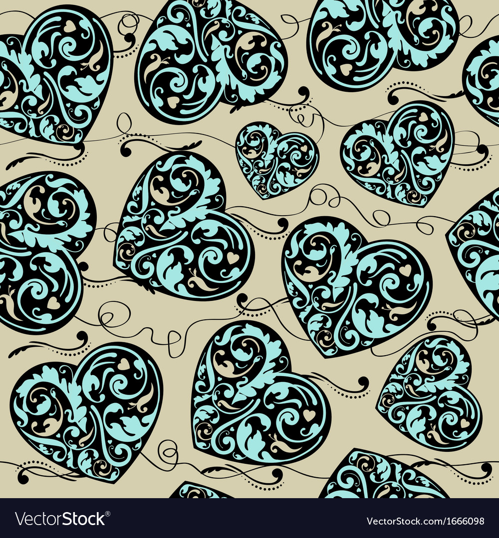 Blue black and beige pattern vector image