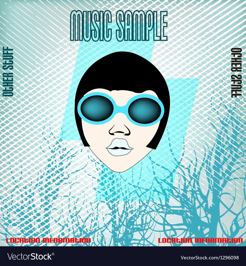 DJ Ice Head vector image