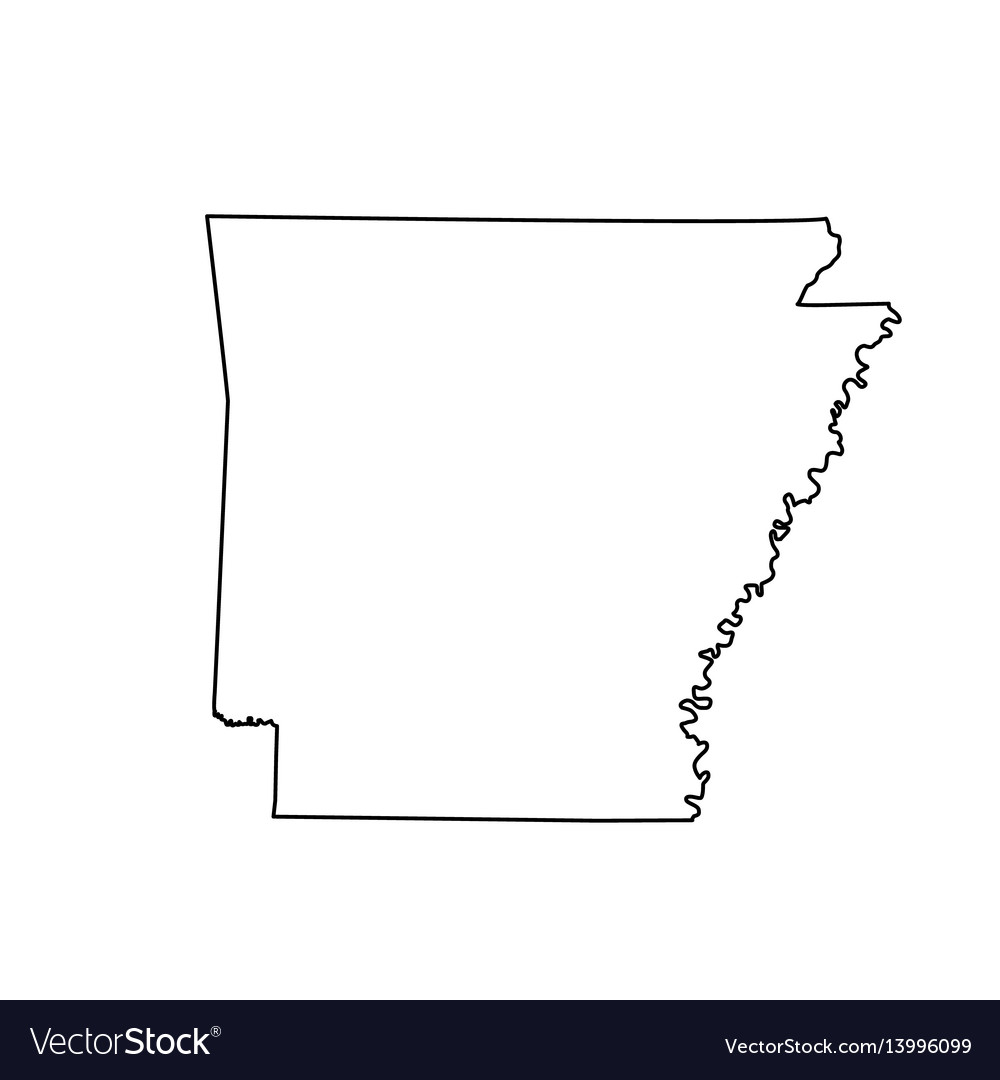 arkansas state on us map map of the us state arkansas royalty free vector image arkansas state on us map map of the us state