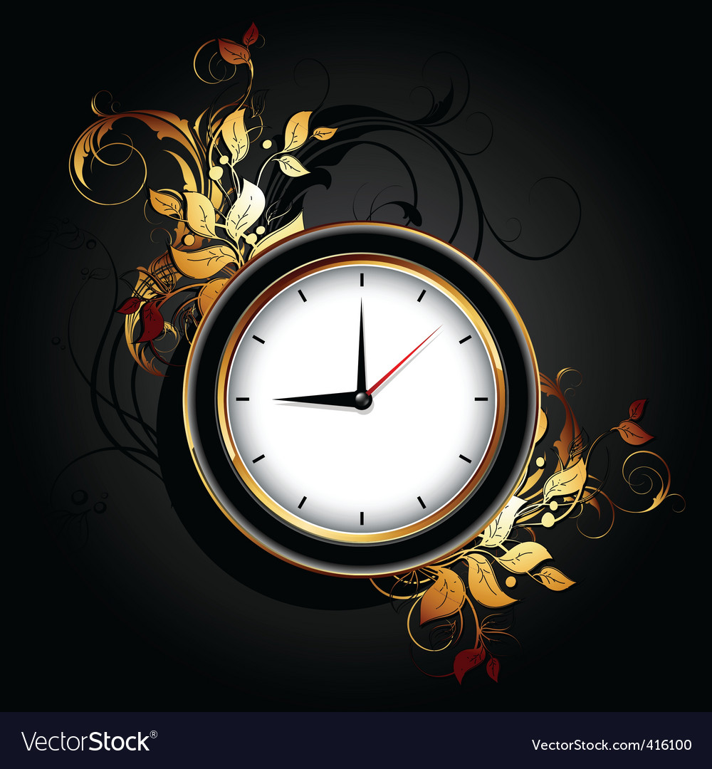 Web icon clocks vector image