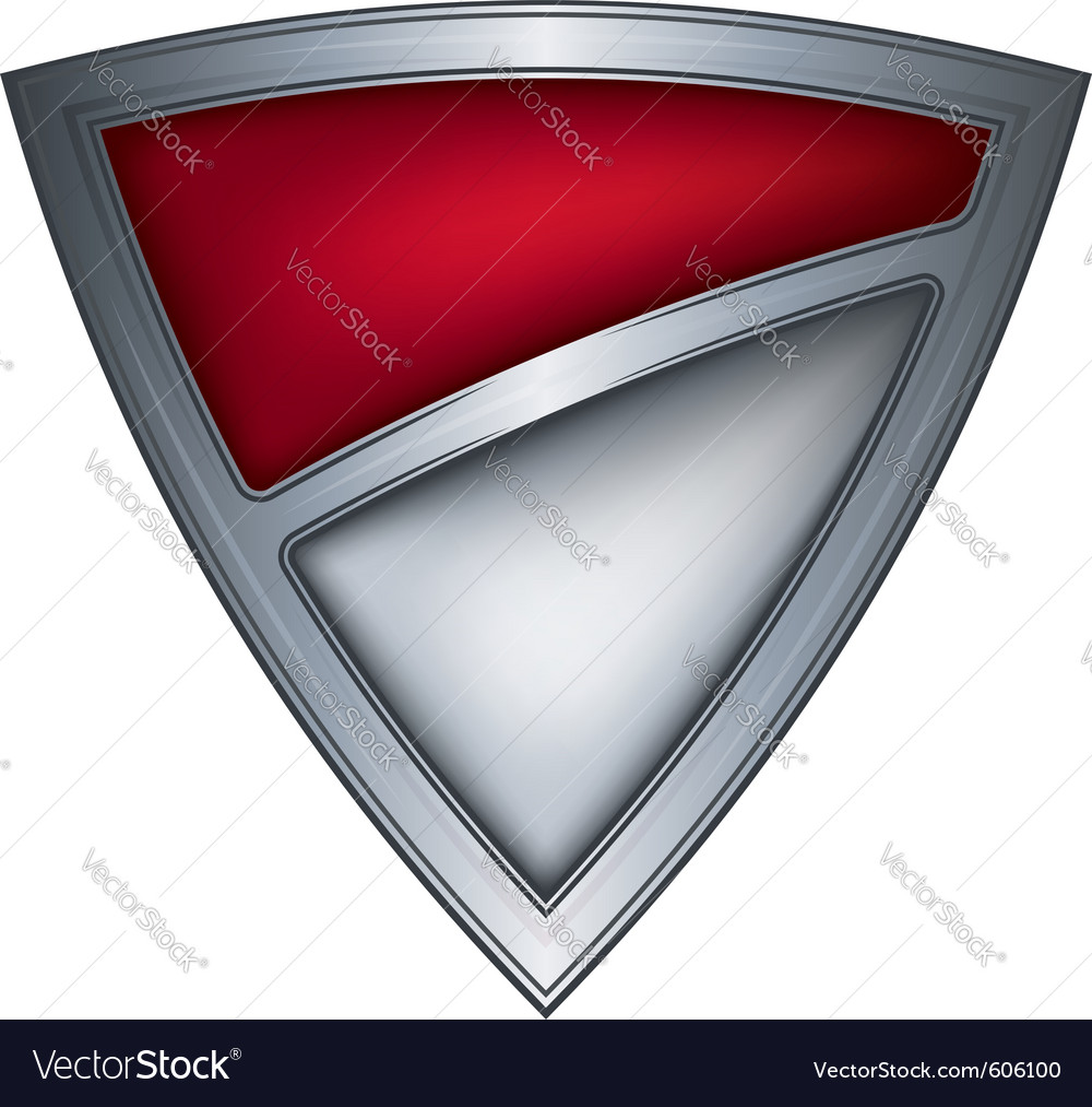Steel shield with flag monaco vector image