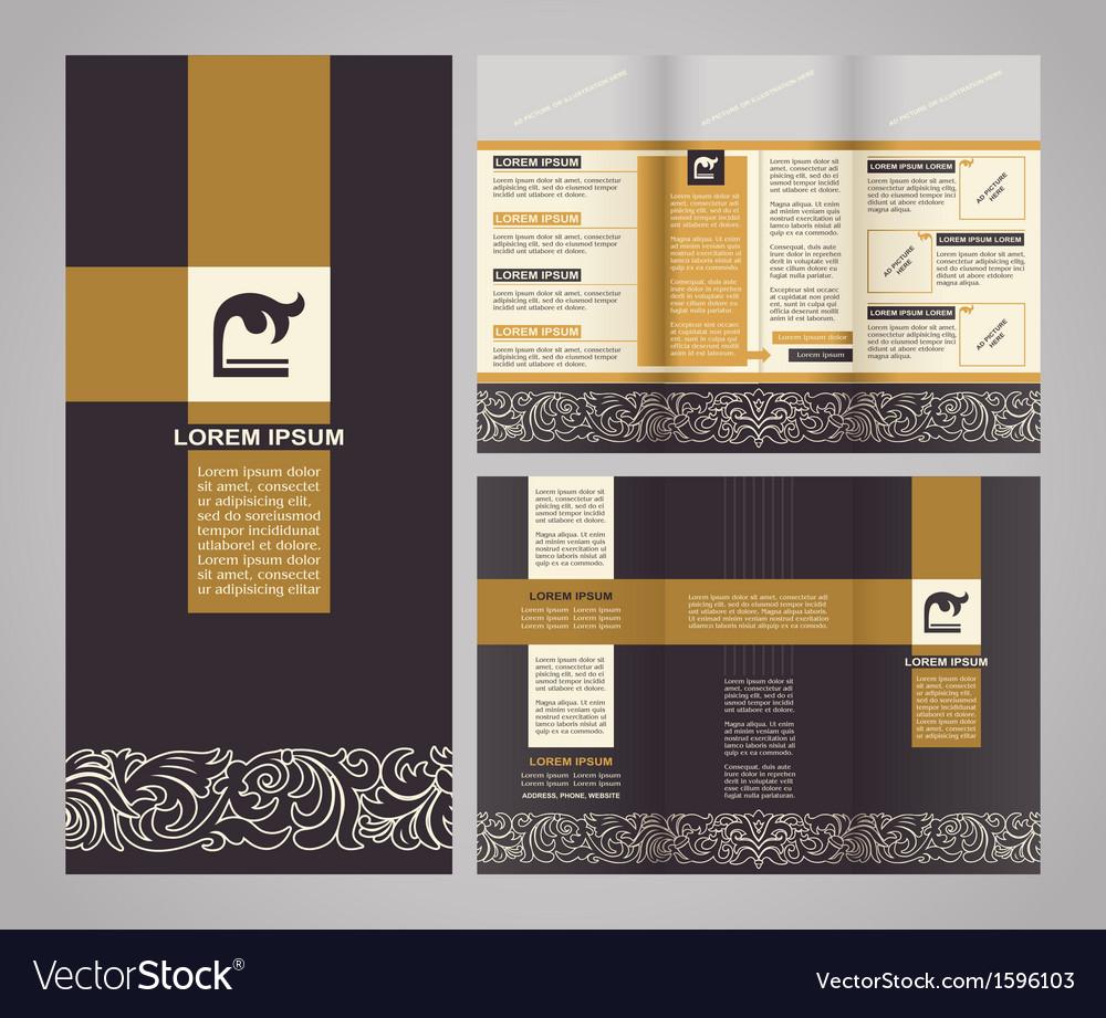 vintage brochure template design vector image by meginn image vintage brochure template design vector image