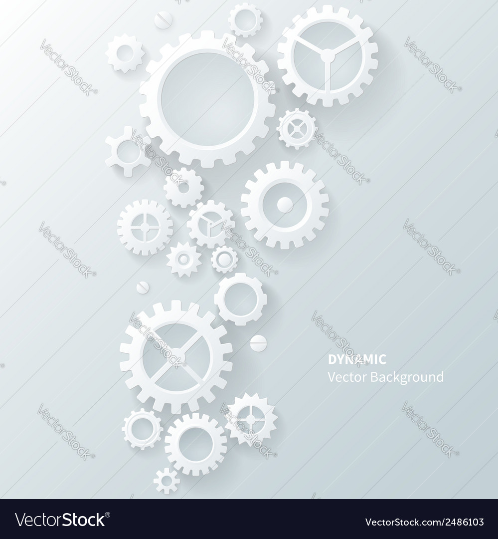 Modern abstract industrial gear background vector image