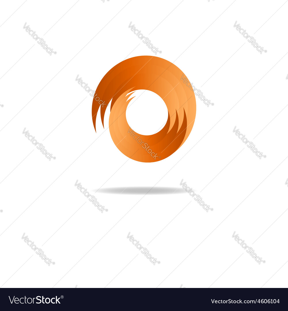 Abstract fire sign logo flame shape vector image