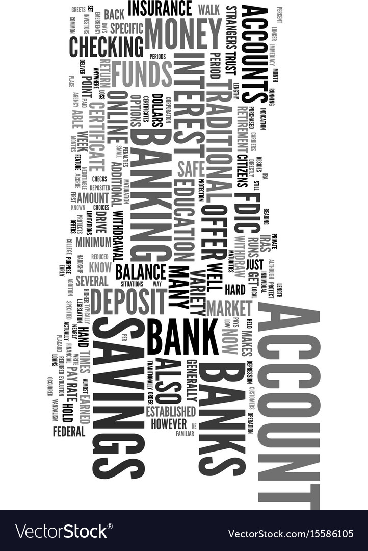 You can bank on it text word cloud concept vector image