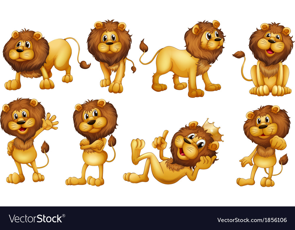 Brave lions Vector Image