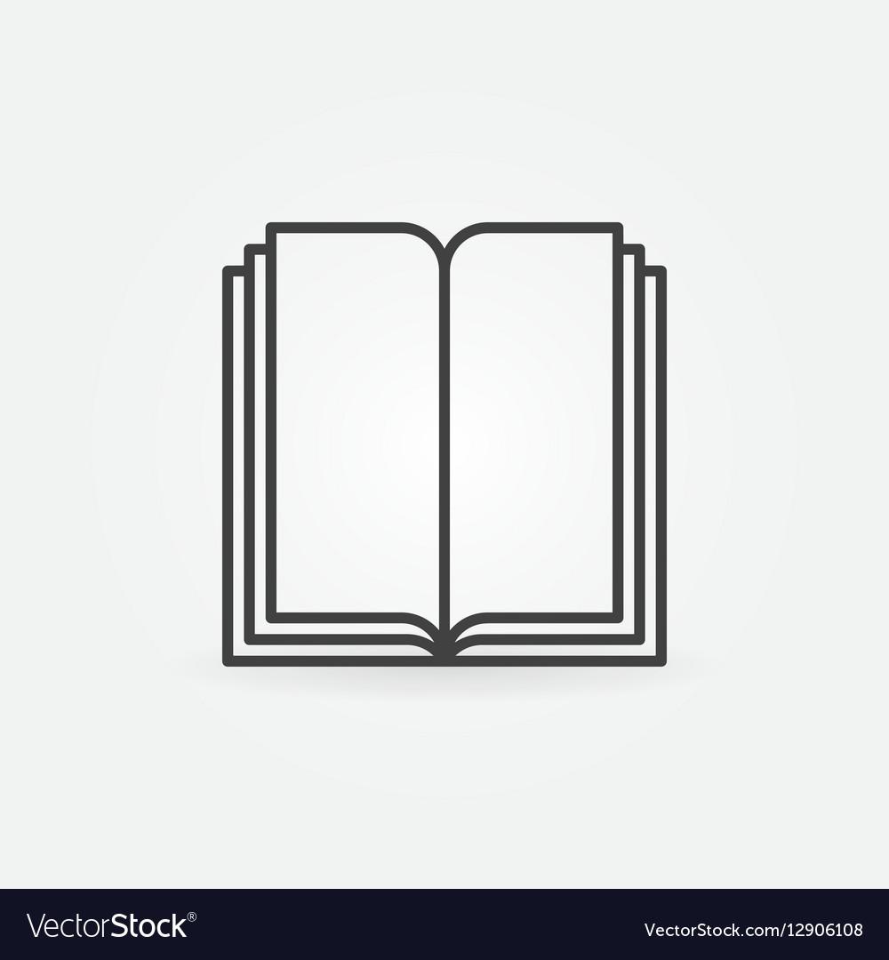 Book linear symbol vector image