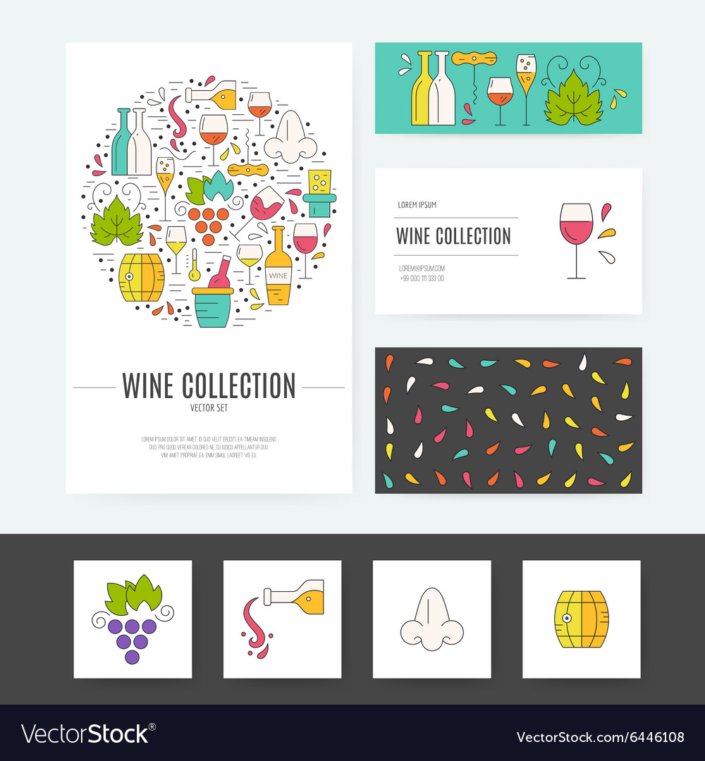 Wine Business Identity vector image