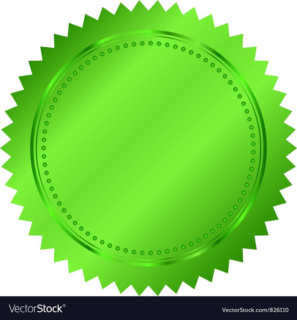 Green seal vector image
