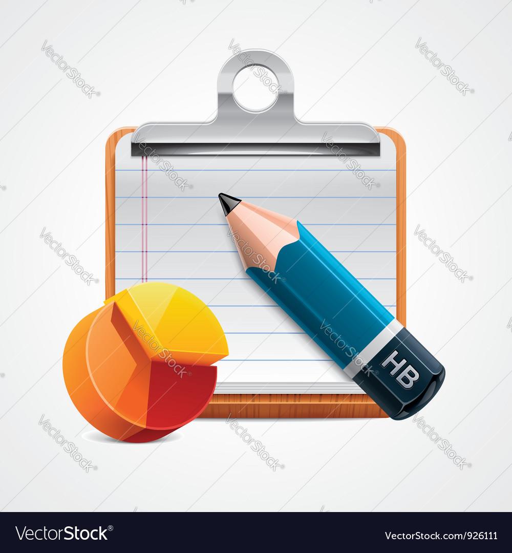 Starting analysis icon vector image