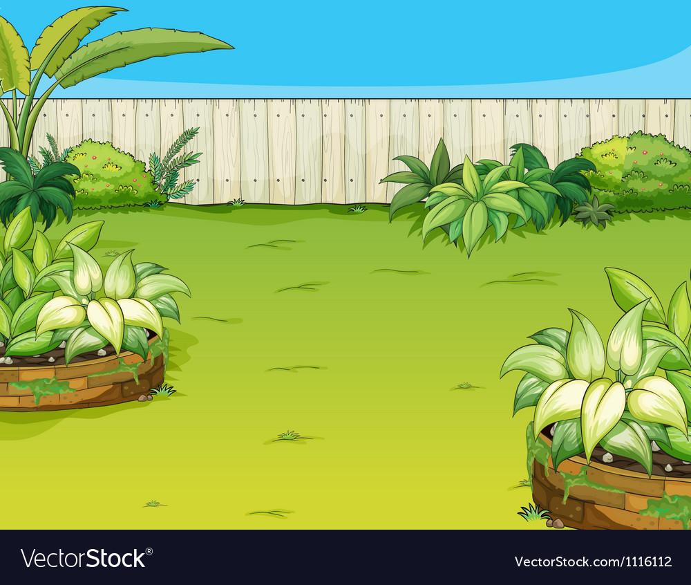 A beautiful landscape vector image