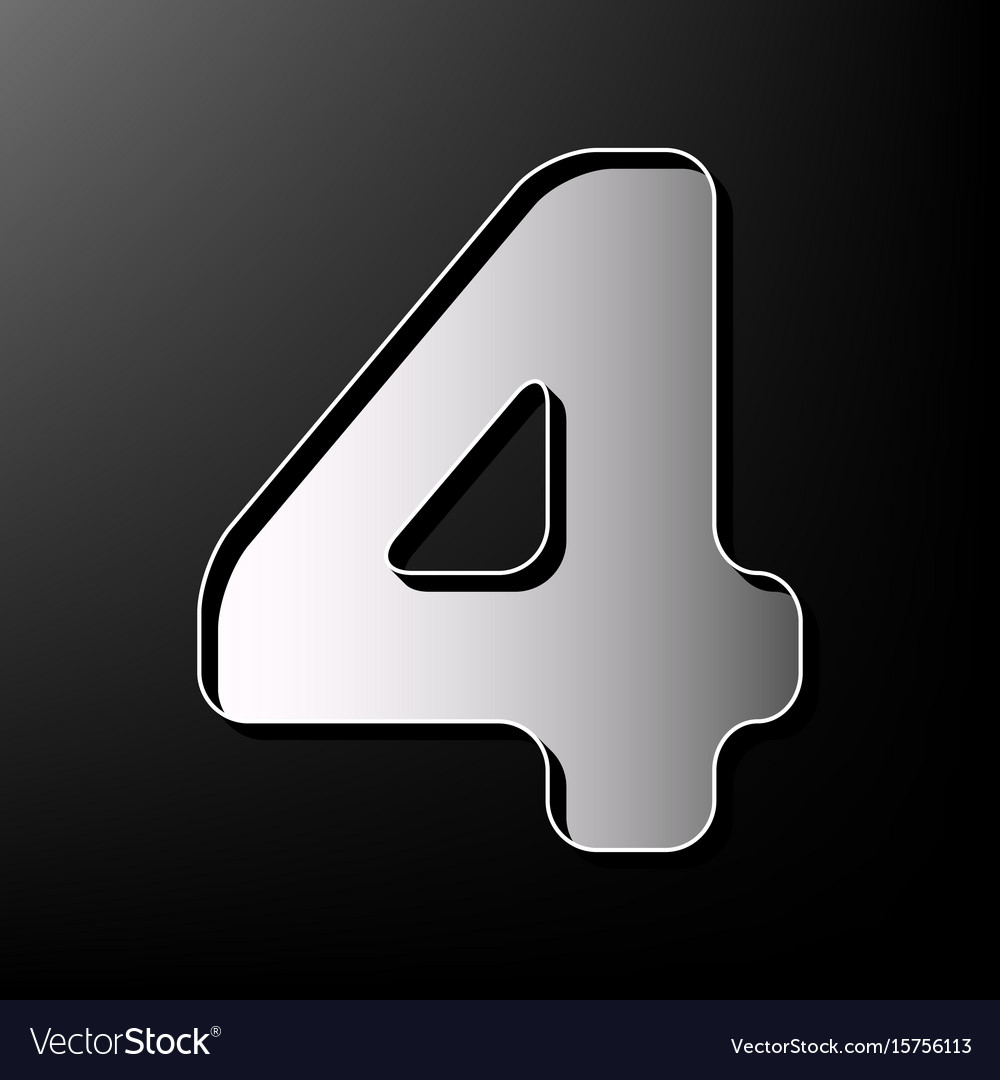Number 4 sign design template element Royalty Free Vector