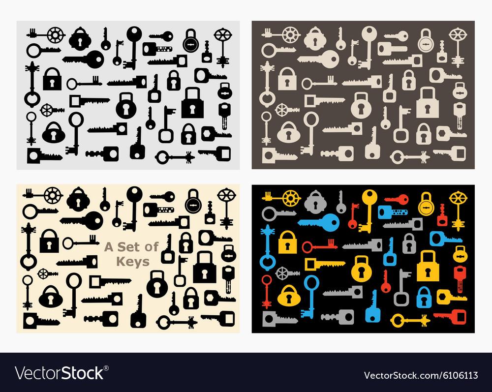 Set of locks vector image