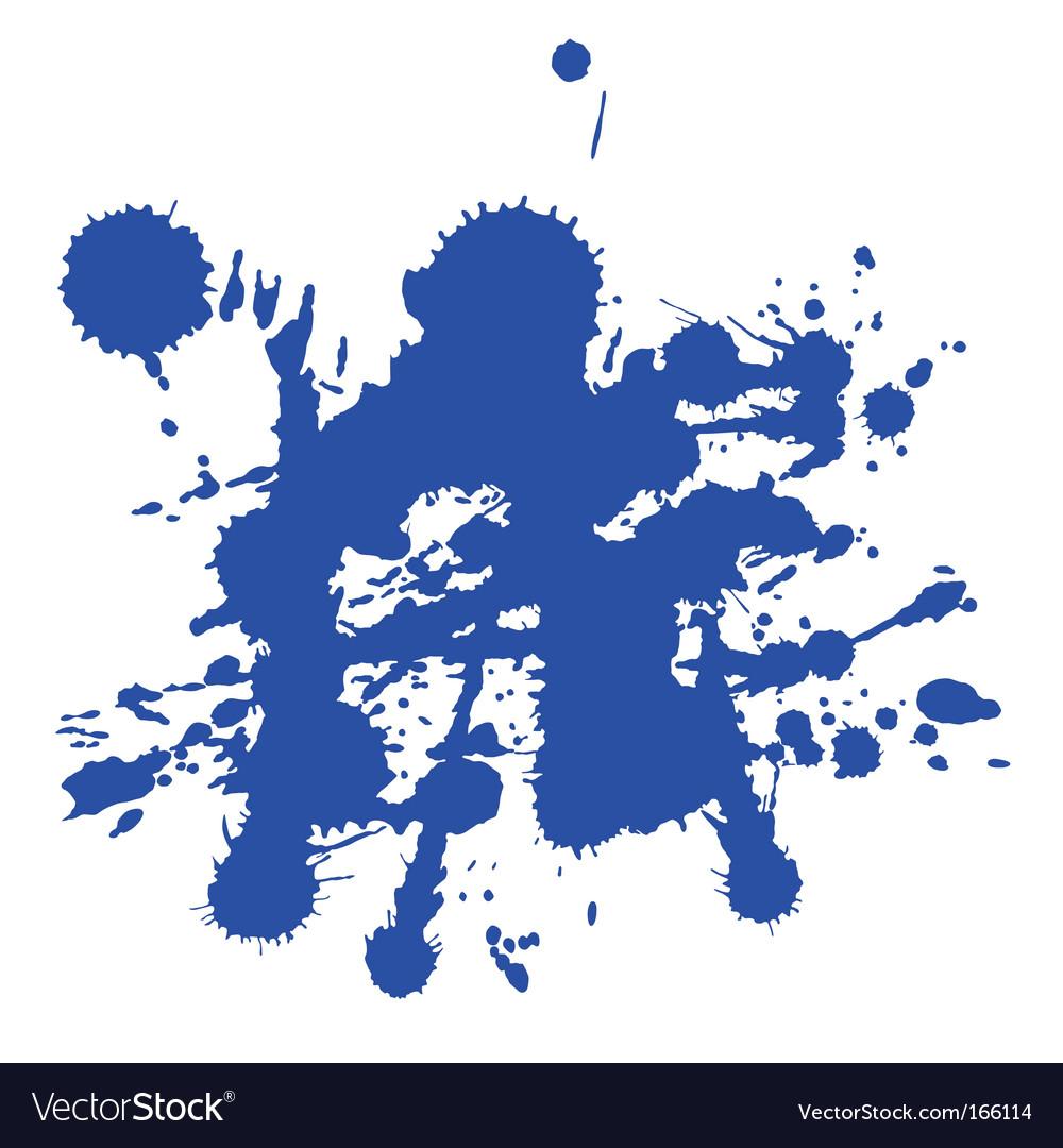 blue paint splat royalty free vector image vectorstock