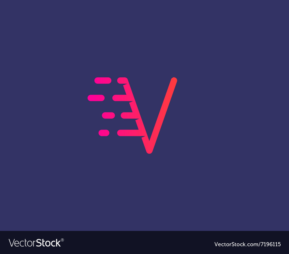 Abstract letter V logo design template Dynamic vector image