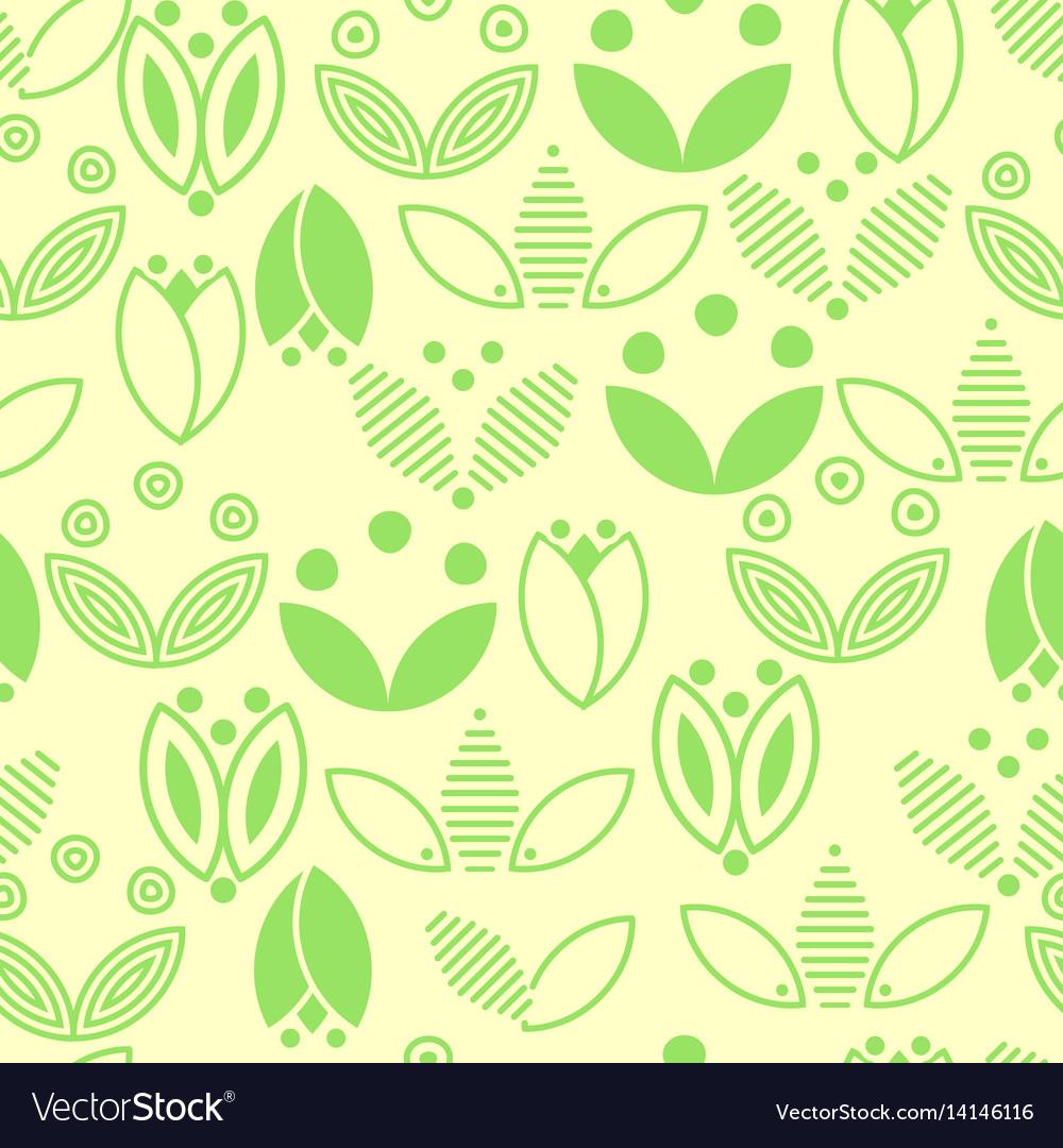 Green Flower Logo Royalty Free Vector Image Vectorstock