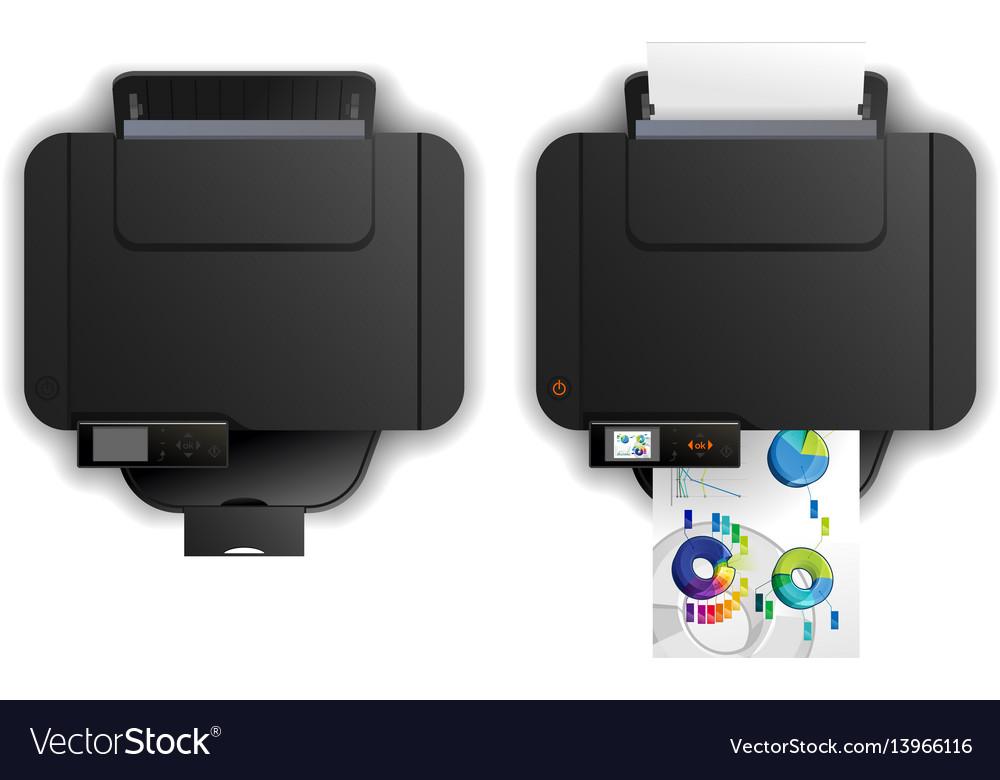 Multi function printer vector image
