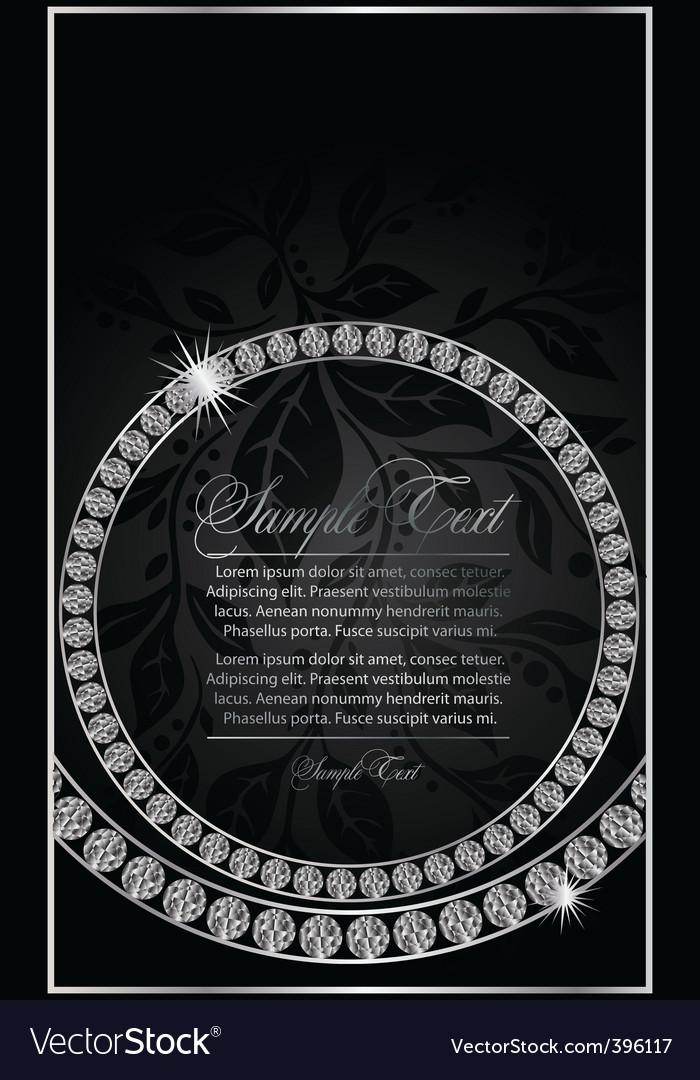 Diamond ring design vector image