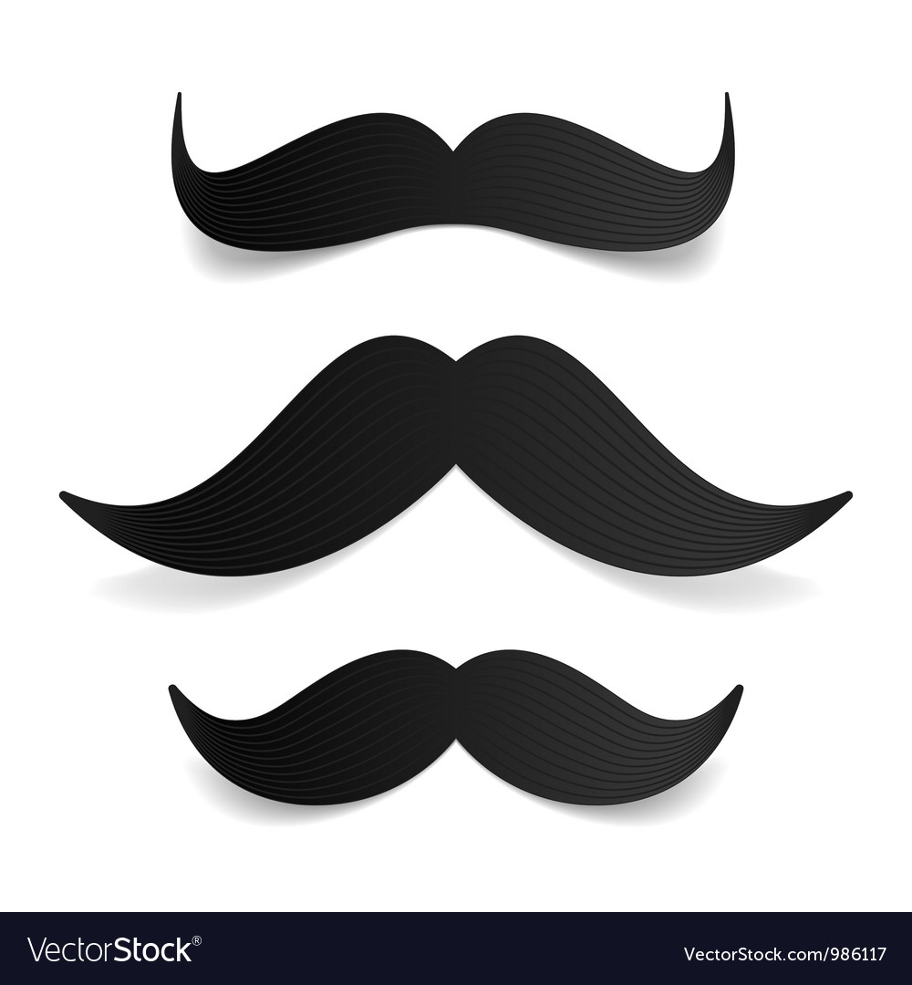 Mustaches vector image