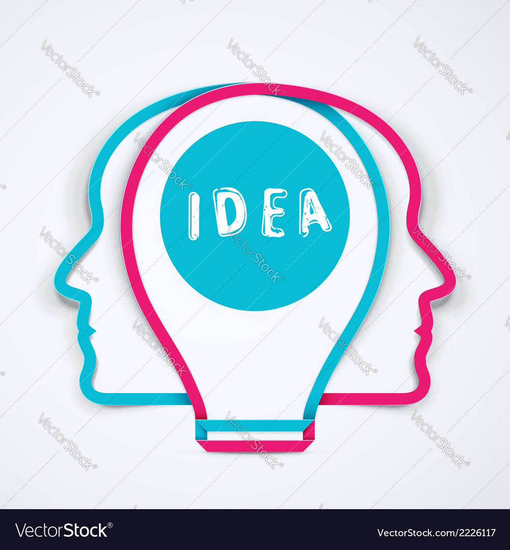 Best idea vector image