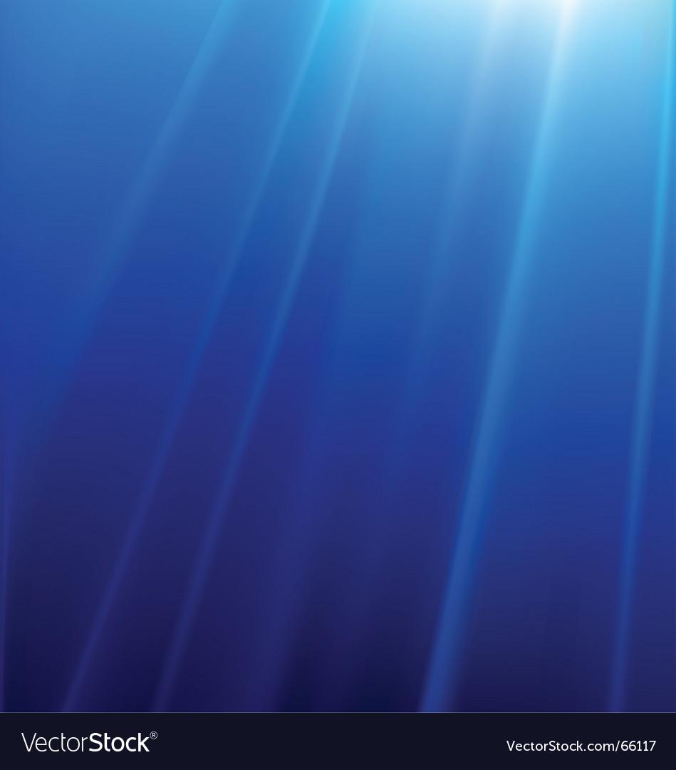 Underwater lights vector image