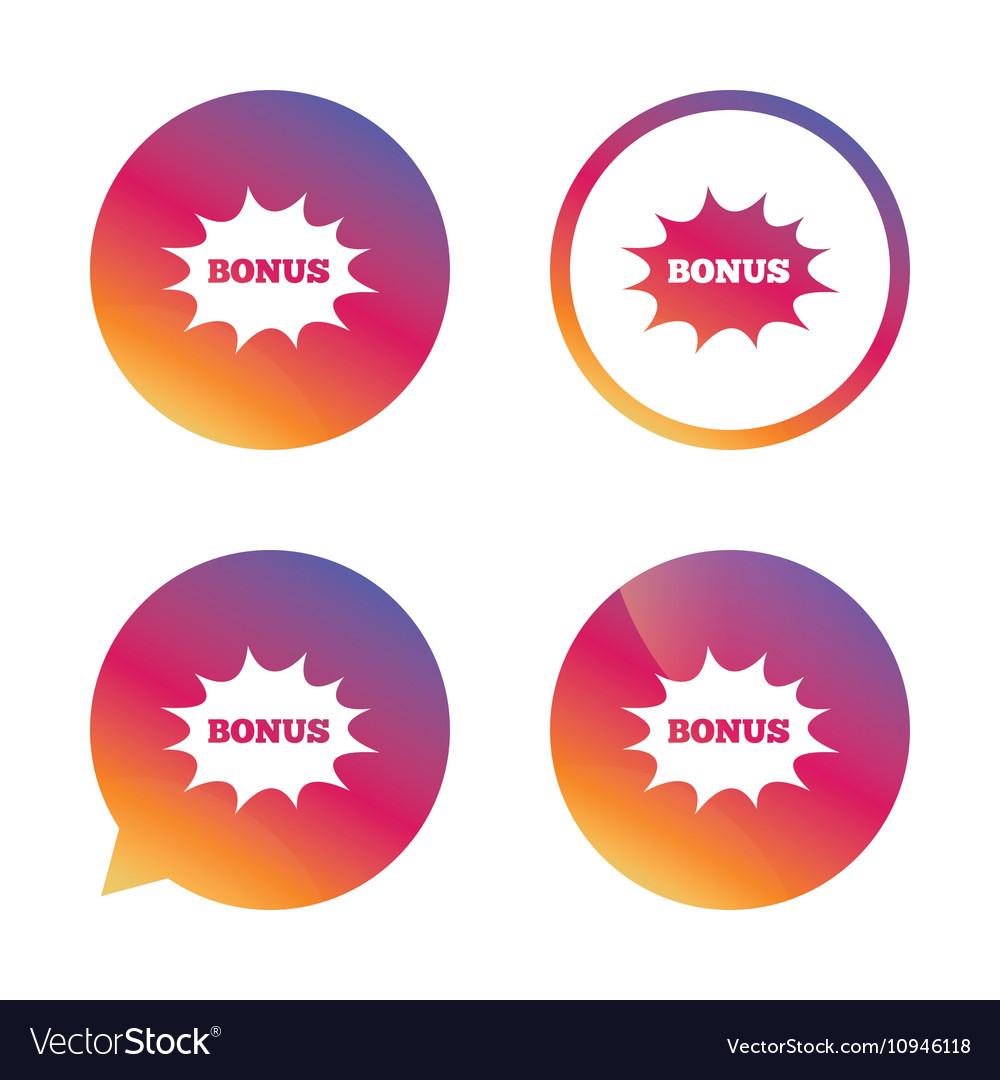 Bonus sign icon explosion cartoon bubble symbol vector image bonus sign icon explosion cartoon bubble symbol vector image buycottarizona