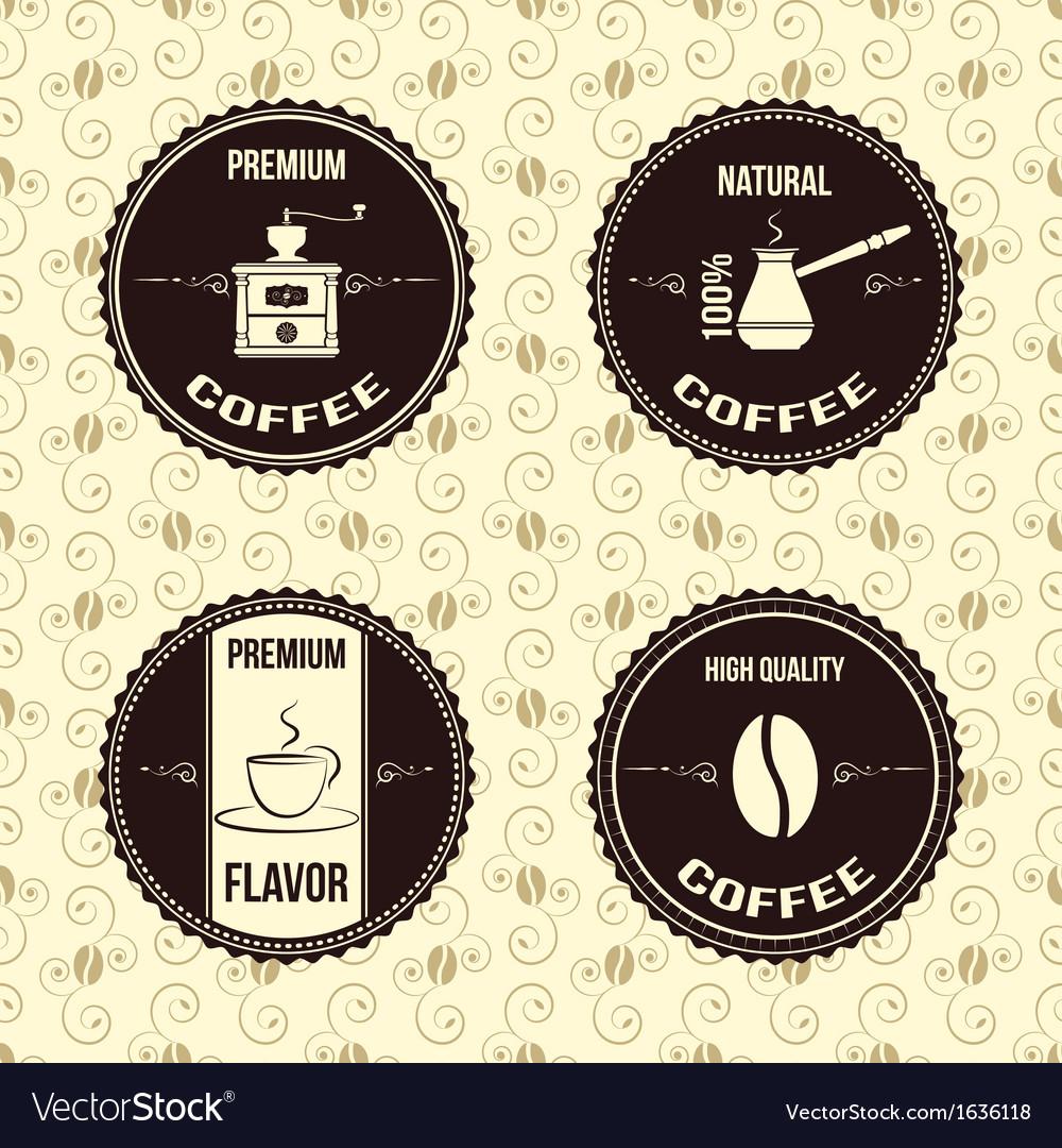Coffee vintage labels vector image
