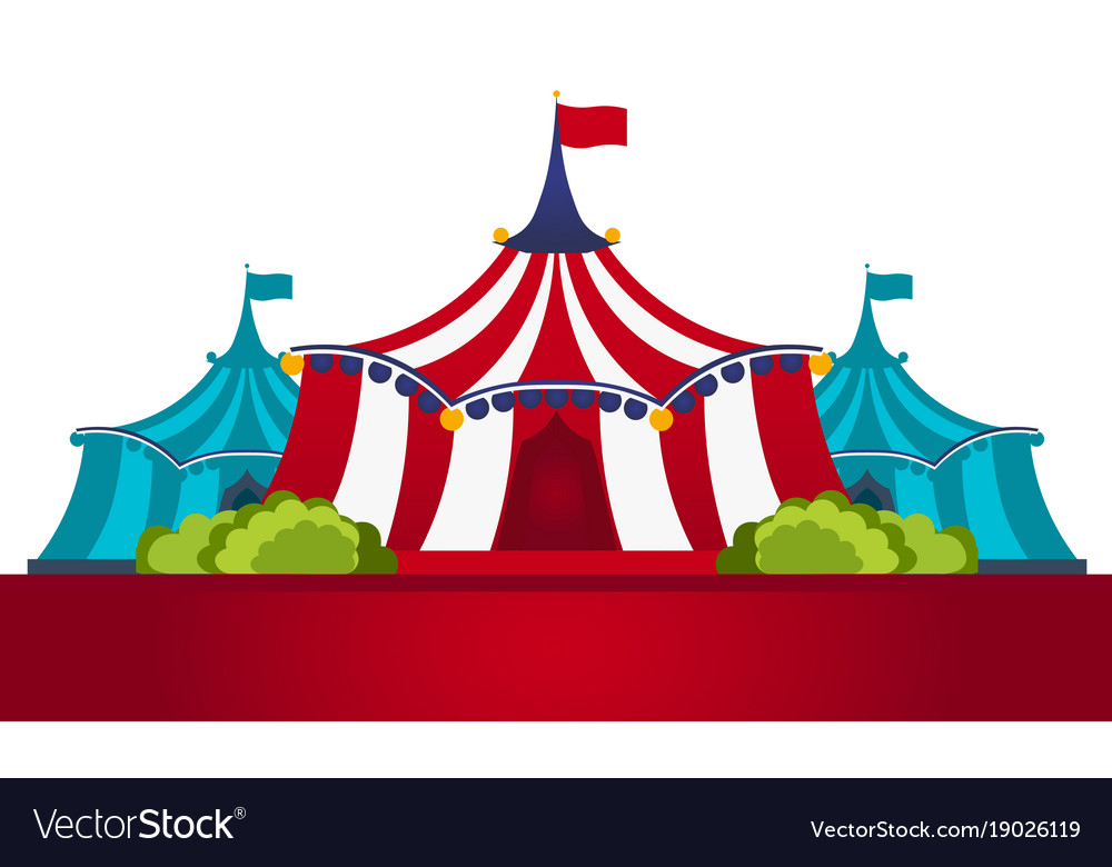 Circus tents with banner amazing show flat vector image  sc 1 st  VectorStock & Circus tents with banner amazing show flat Vector Image