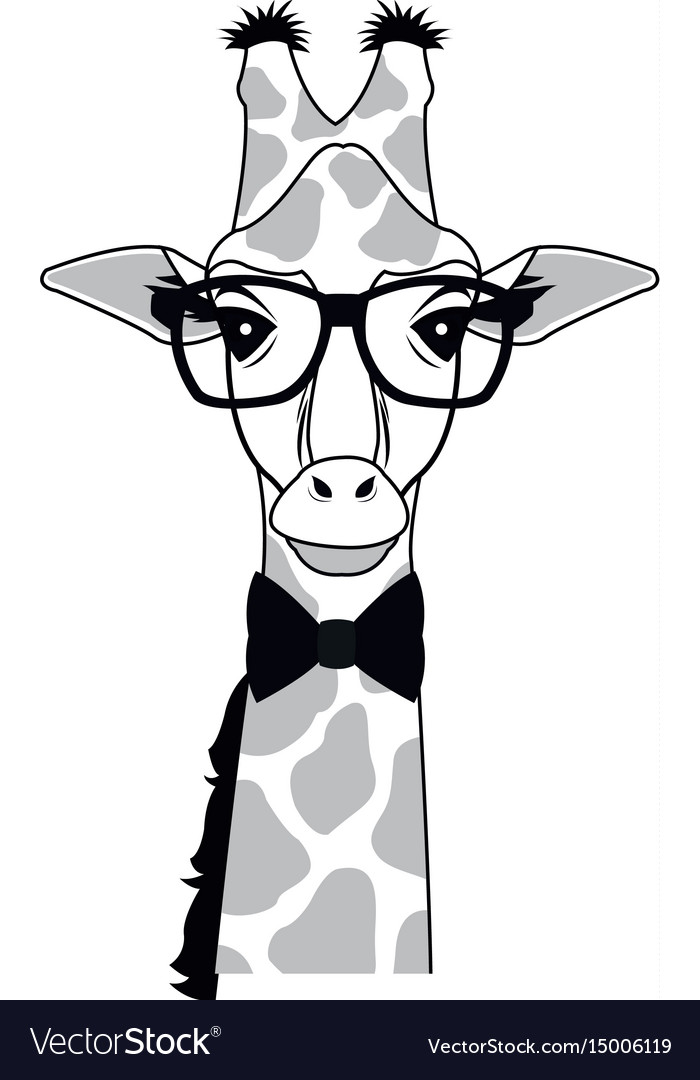 Giraffe Wearing Glasses
