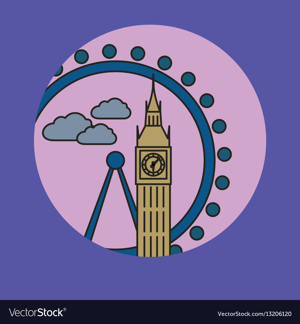 London city skyline vector image