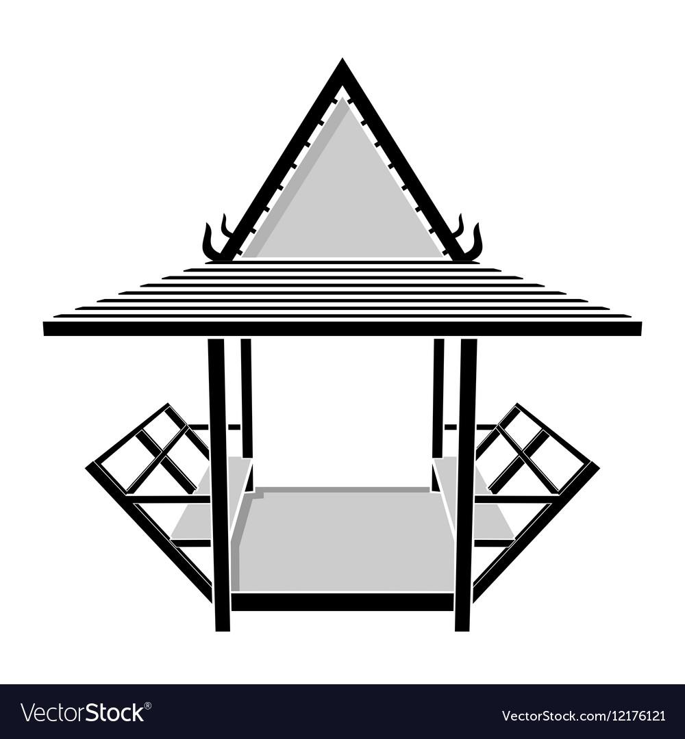 Pavilion thai gazebo rest area vector image
