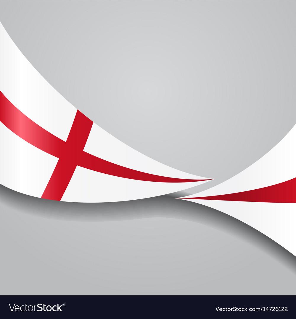English wavy flag Royalty Free Vector Image - VectorStock