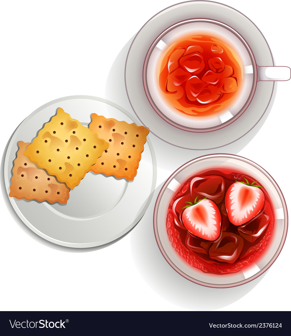 A topview of cocktail drinks vector image