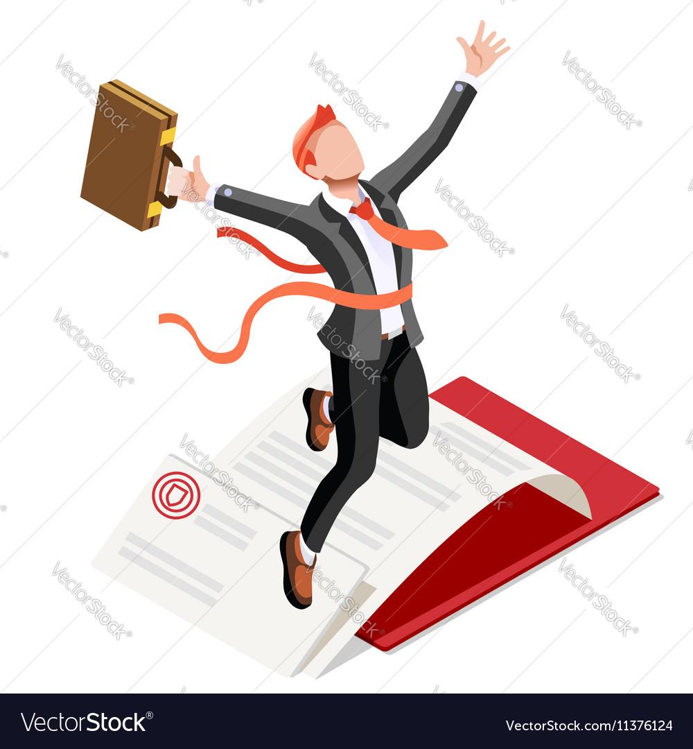 Ambitious business change 56 Job Ambitions concept vector image
