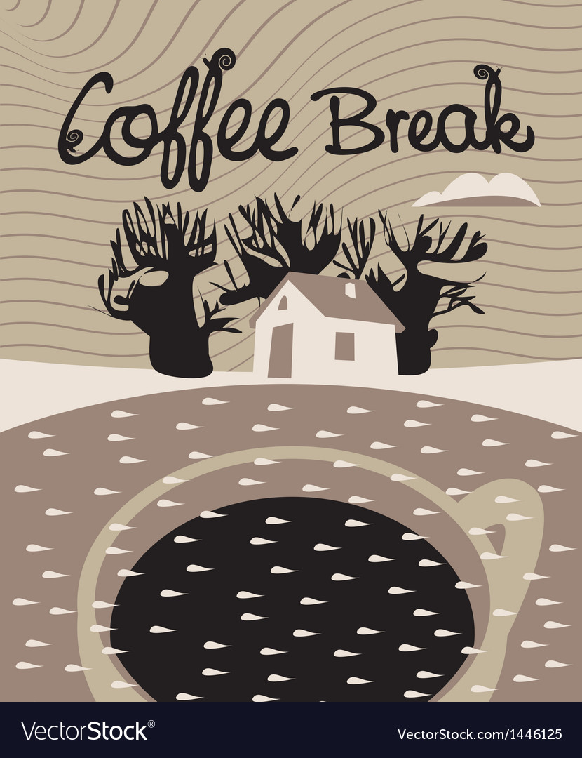 Coffee dream vector image