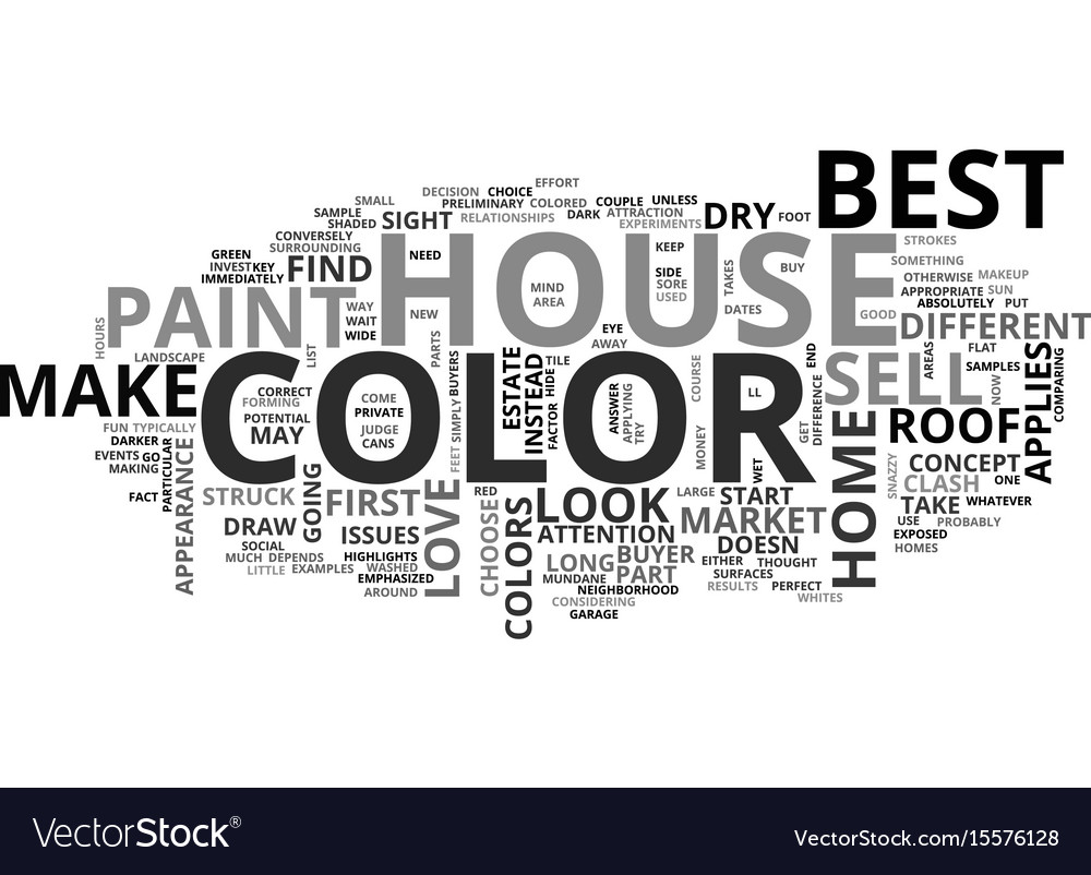 Best house color to sell text word cloud concept Vector Image