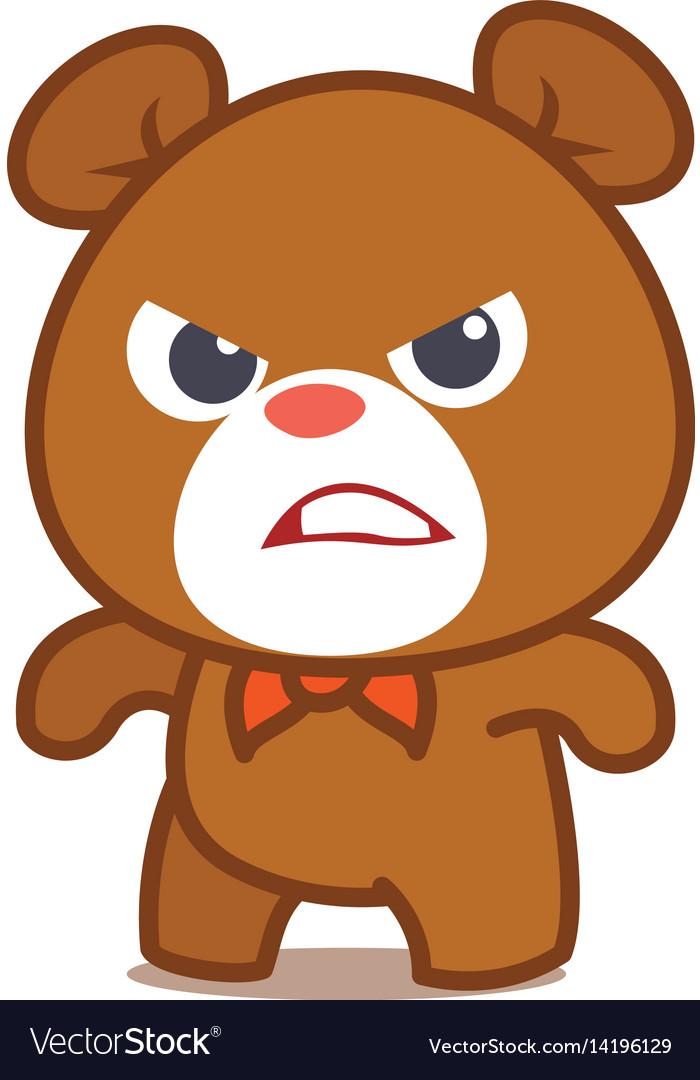 Angry bear character art vector image