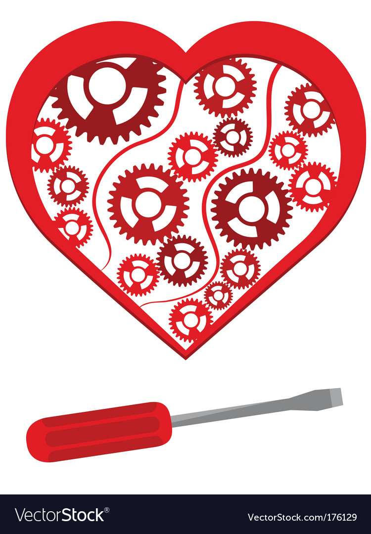 Mechanical heart vector image