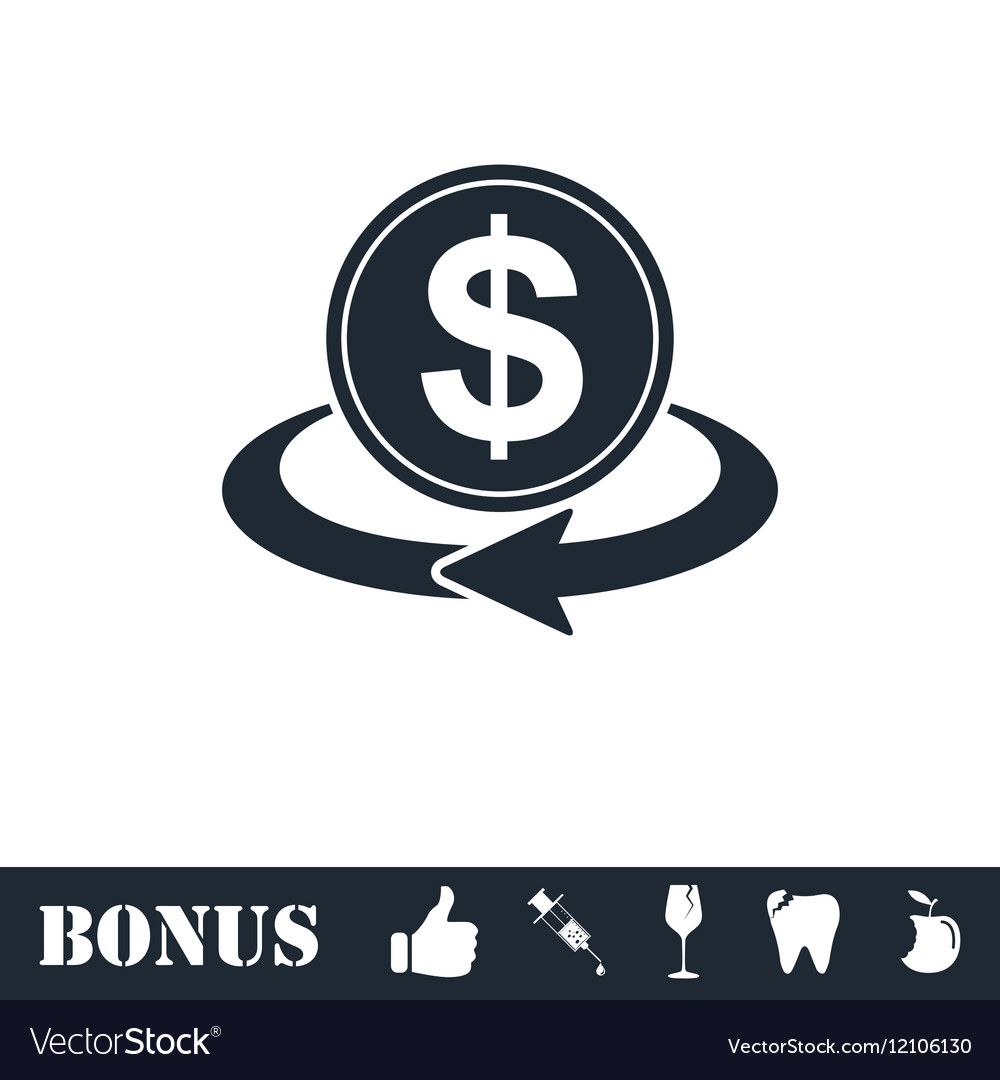 Money transfer icon flat vector image