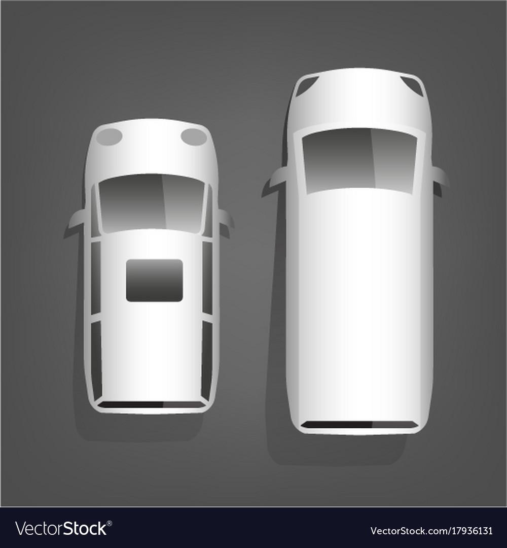 Minivan top view vector image