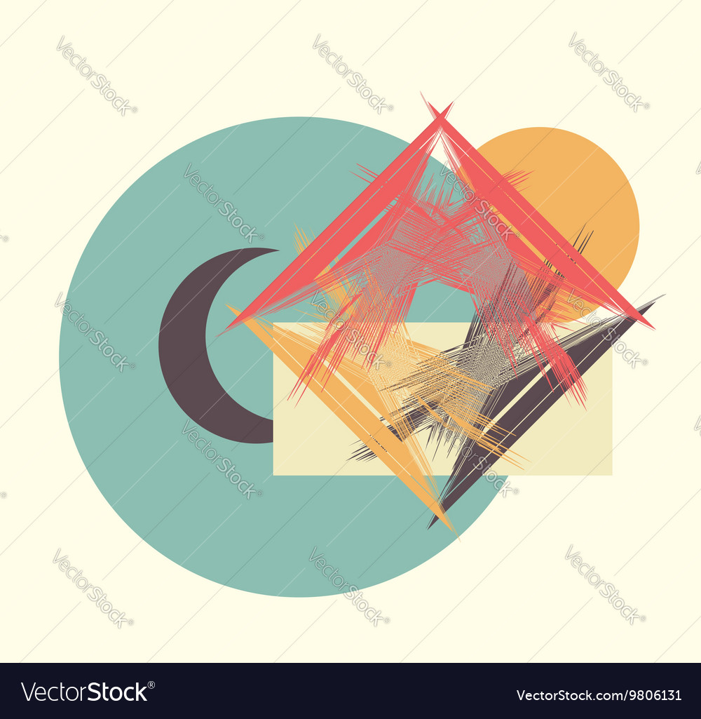 Moon sun house vector image