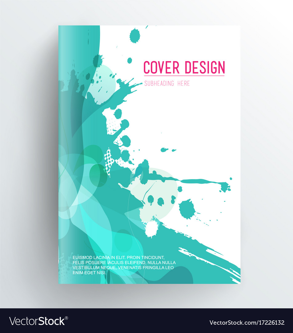 Book Cover Layout : Book cover design template with abstract splash vector image