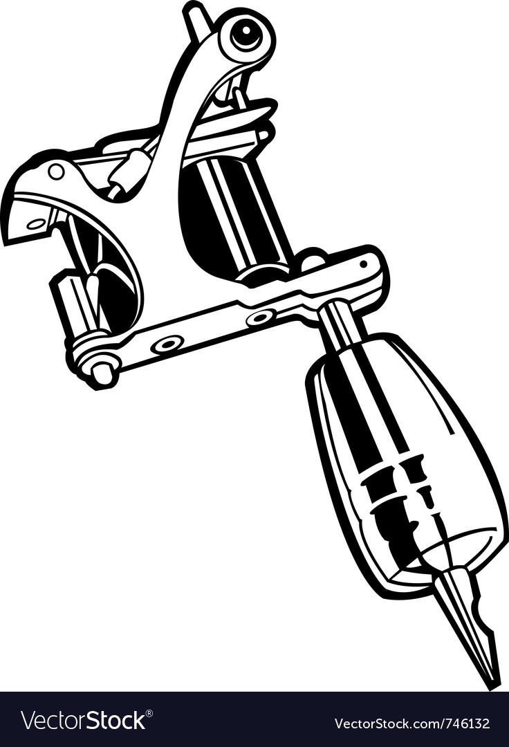 Tattoo Machine Line Drawing : Machine tattoo royalty free vector image vectorstock